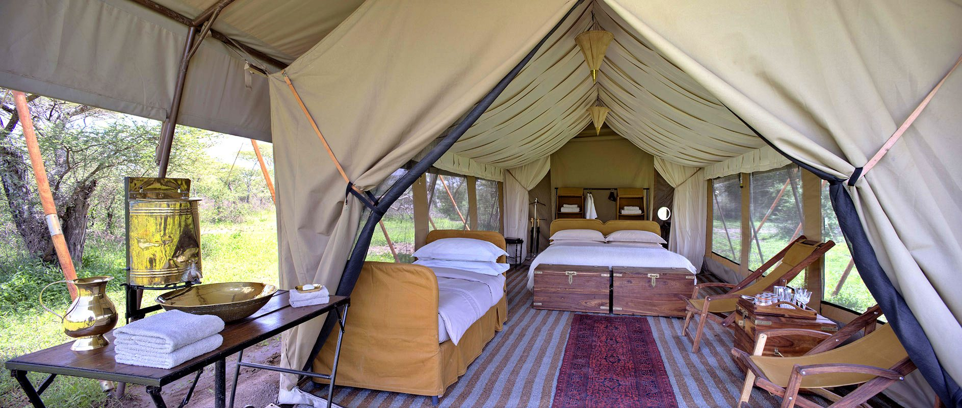 The Bedouin-style guest tents at Serengeti Under Canvas are enormous. © u0026Beyond & Luxury Tanzania Safari Lodge | Serengeti Under Canvas | Art Of Safari