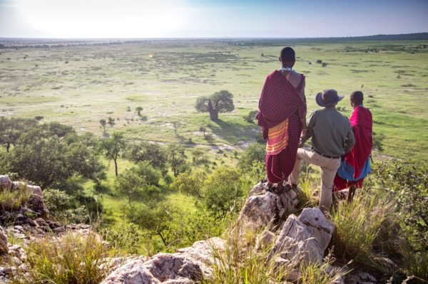 Walking safaris from Tarangire Treetops give you the chance to explore the area on foot. © Elewana Collection