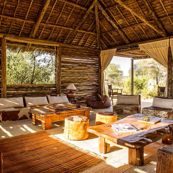 The guest-area lounge at Kuro Tarangire is a great place to while away an afternoon. © Nomad Tanzania