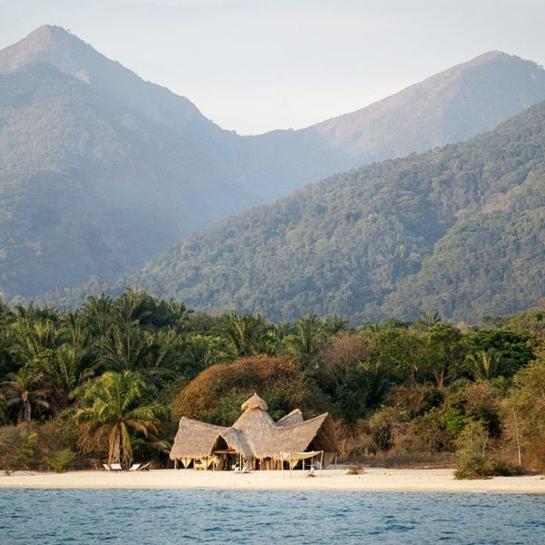The Mahale Mountains behind Greystoke Mahale are home to the biggest population of chimps in the world. © Nomad Tanzania