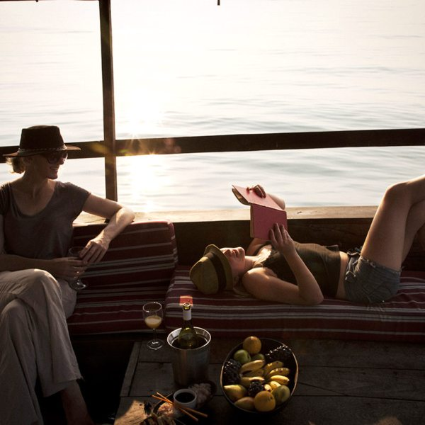 Spend a relaxing afternoon on a dhow while staying at Greystoke Mahale. © Nomad Tanzania