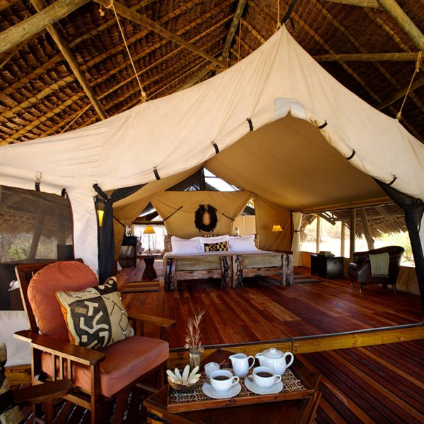 Jongomero has eight tented suites. © Selous Safari Company