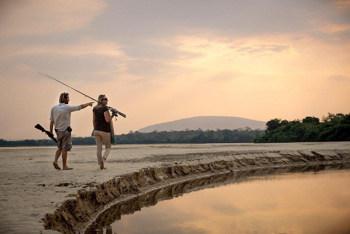 Luxury tanzania safari lodge sand rivers selous art of for River fishing games