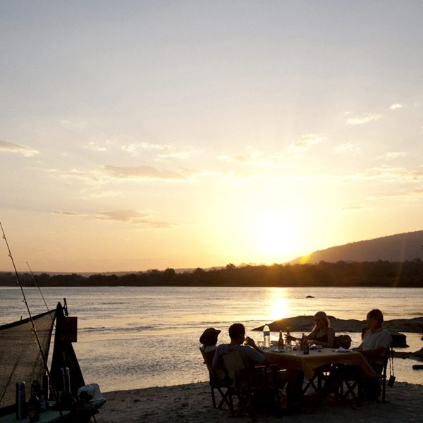 You'll have tables to dine at when fly camping in southern Tanzania. © Nomad Tanzania