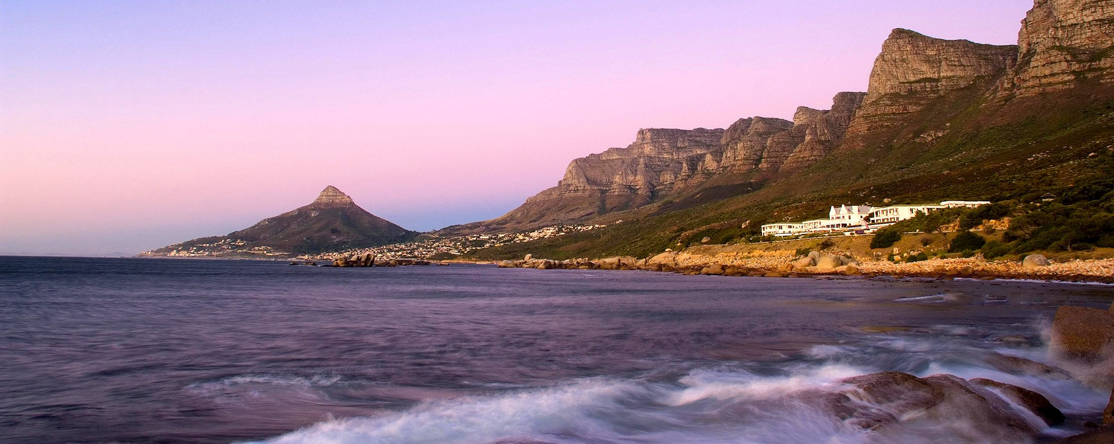 The 12 Apostles Hotel and Spa is tucked between ocean and mountain.