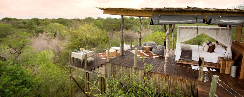 Kingston Treehouse affords spectacular views over the Greater Kruger on a luxury south african safari