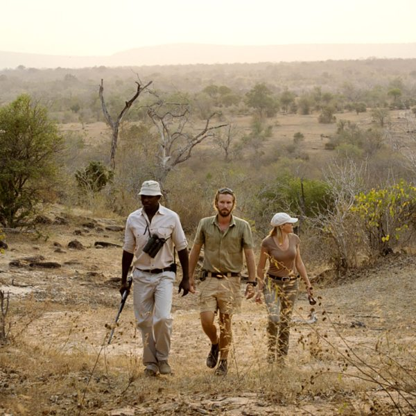 Walking safaris are a great way to explore the Selous.