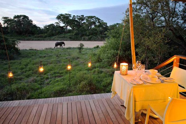 Experience private dining on your deck at Ngala Tented Camp. © &Beyond