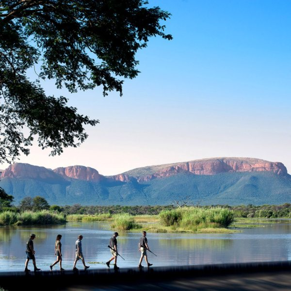 Walks in the Waterberg take you over land and water. © More Private Travel