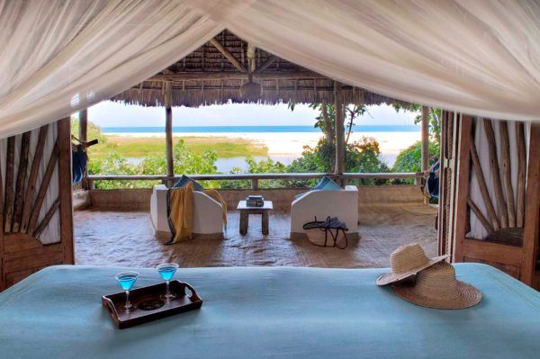 There are nine beachside cottages at Ras Kutani. © Selous Safari Company