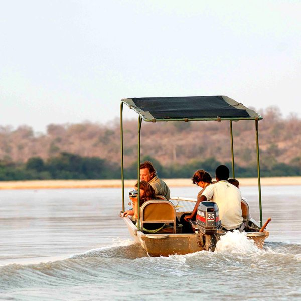 The whole family will love exploring the river from Sand Rivers Selous. © Nomad Tanzania