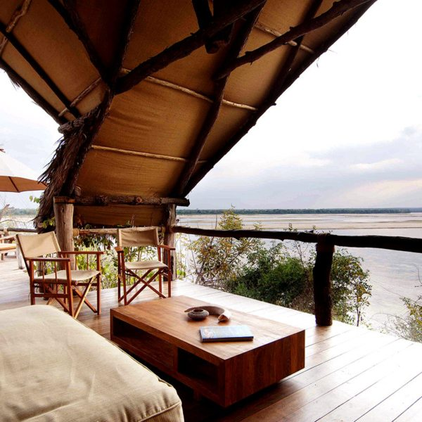 You'll be able to enjoy sweeping views of the Selous from all sides when staying at Sand Rivers Selous. © Nomad Tanzania