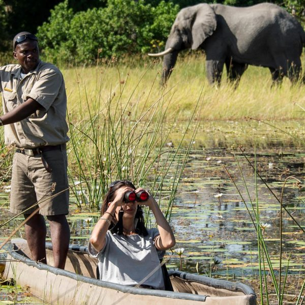 Take a mokoro safari in the Okavango Delta from Vumbura Plains.