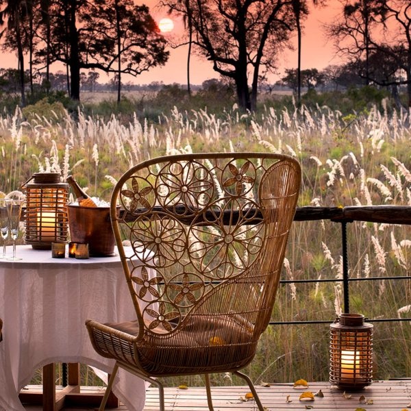 Sandibe Okavango Safari Lodge has the most magnificent sunsets.