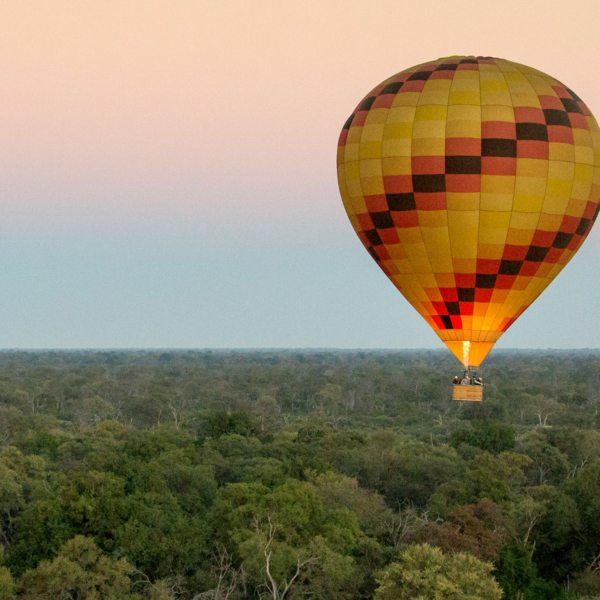 An Okavango Delta balloon safari is the experience of a lifetime.