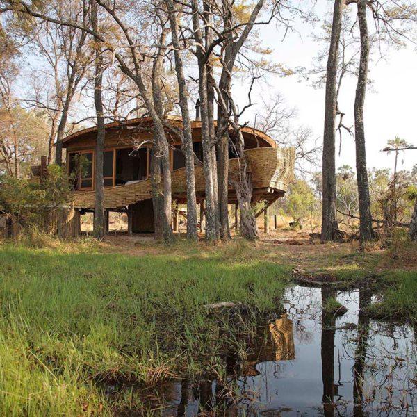 There are 12 suites at Sandibe Okavango Safari Lodge. © &Beyond