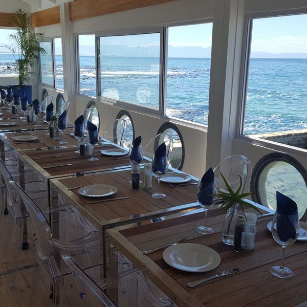 Enjoy magnificent sea views while you dine at the Brass Bell. © Brass Bell