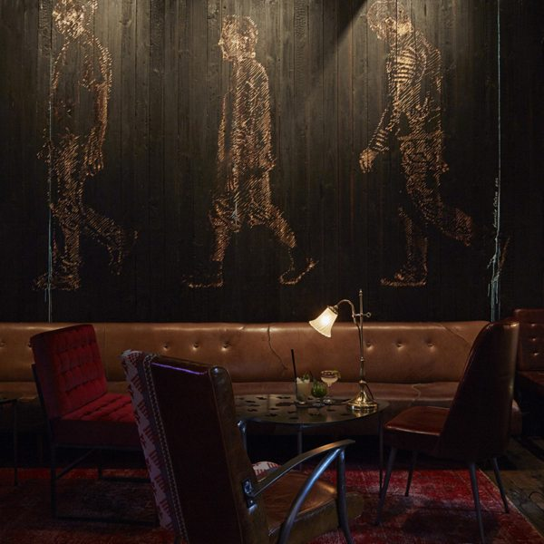 The Test Kitchen's Dark Room adds a sense of drama to your already sensational meal. © The Test Kitchen