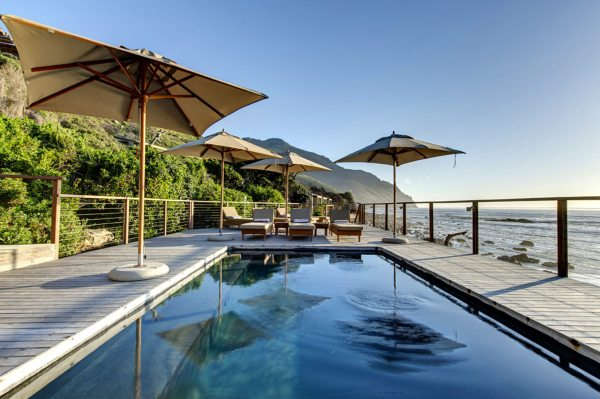 The sea might be cold, but the pool is heated at Tintswalo Atlantic. © Tintswalo Lodges