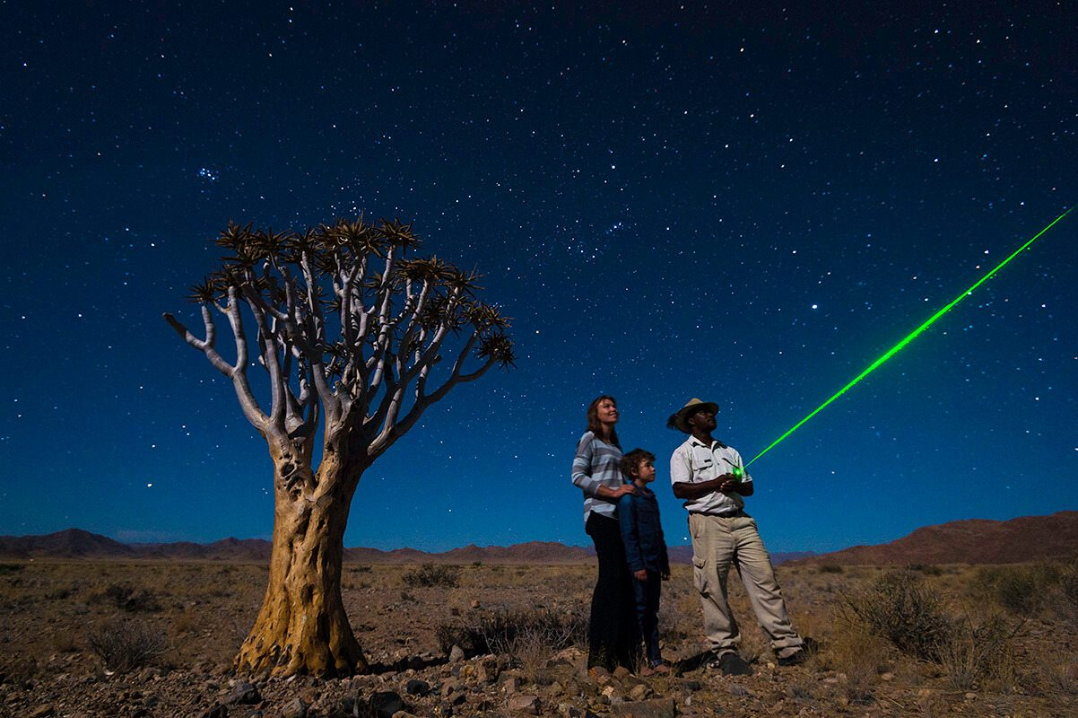 Namibian guides are all amateur, if not expert, astronomers.