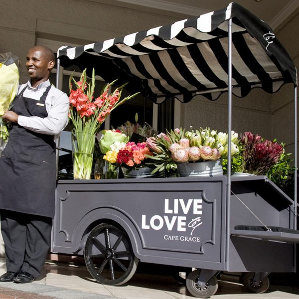 Pick up some local fynbos at Cape Grace's flower trolley. © Cape Grace