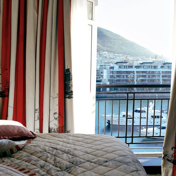 At Cape Grace, you can enjoy views of the marina from your bed. © Cape Grace