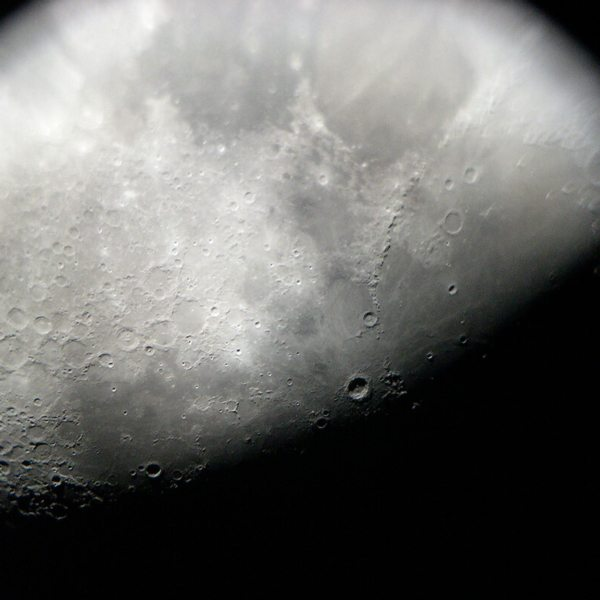 Your spotting scope will let you see the moon up close. © Peter Dunning