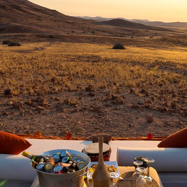 Sundowners are a must at Desert Rhino Camp.