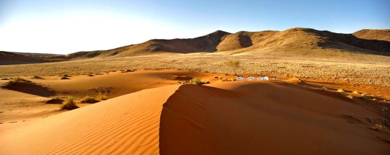 This is what a drinks stop looks like when you go on game drives from Sossusvlei Desert Lodge: magnificent.