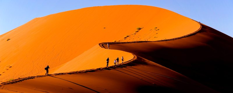 Hiking up the Sossusvlei dunes is harder than you think.