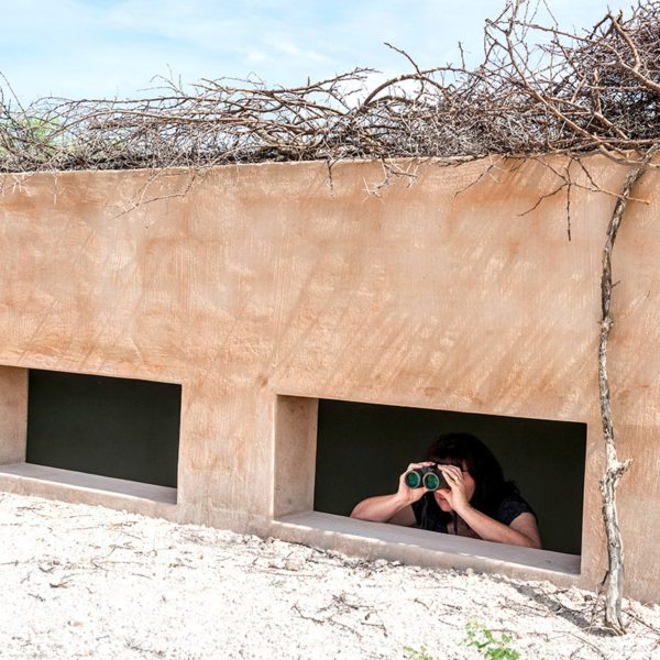 The hide at Onguma The Fort lets you see animals close up. © Onguma