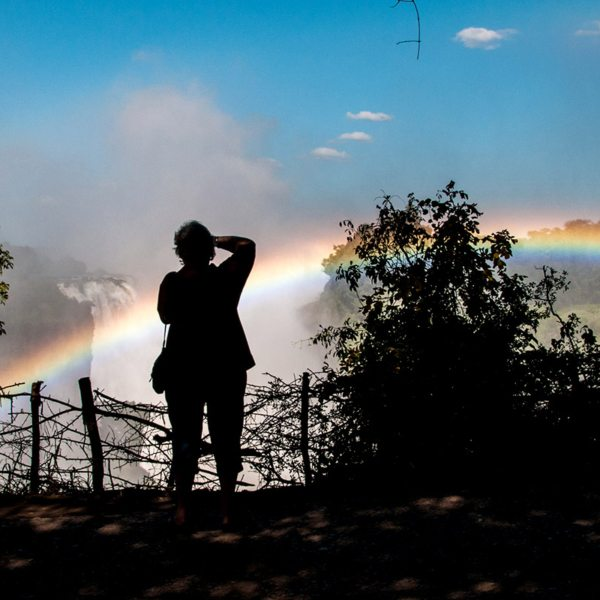 You might get to see a rainbow when visiting the falls from Victoria Falls Hotel. © Victoria Falls Hotel
