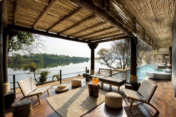 Cool off in the pool at Matetsi River Lodge. © &Beyond
