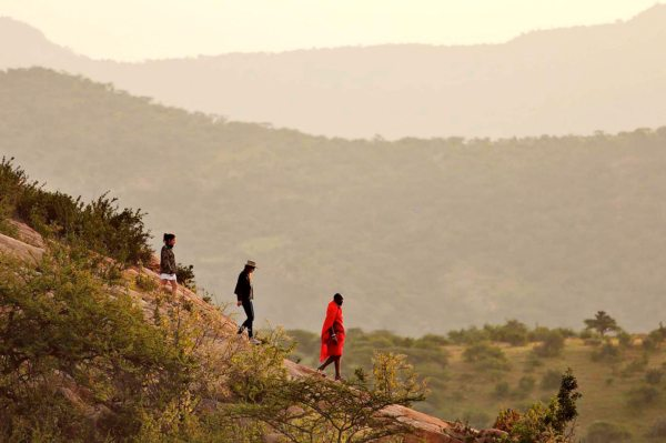 You can go on walking safaris from The Sanctuary at Ol Lentille.