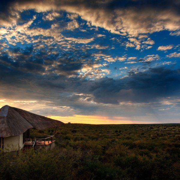 Tau Pan has nine thatched guest rooms. © Kwando Safaris
