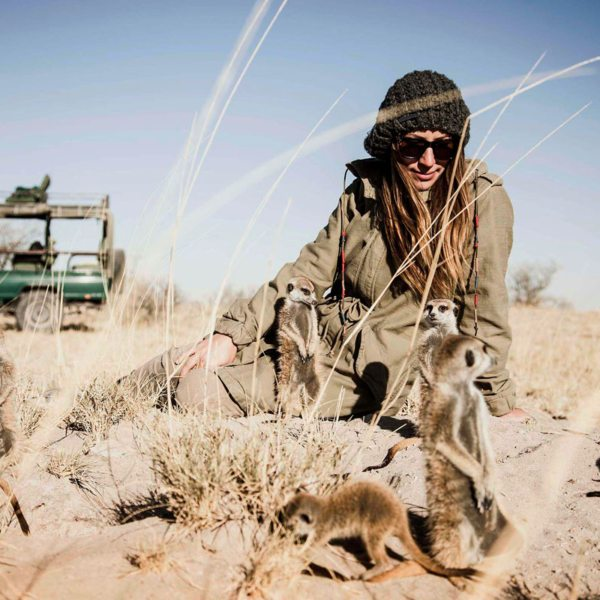 In the Makgadikgadi, you can get up close and personal with meerkats. © Uncharted Africa