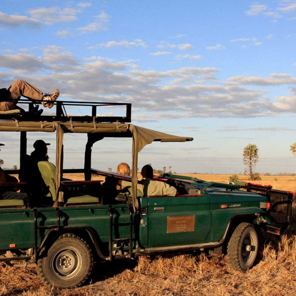 You can explore the area surrounding San Camp on game drives. © Uncharted Africa