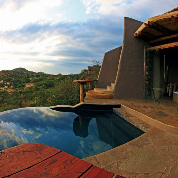 Some of the suites at ol Donyo Lodge have their own private plunge pools. © Great Plains Conservation