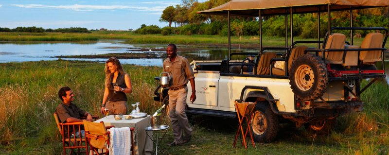 Bush sundowners are a highlight at Kings Pool..