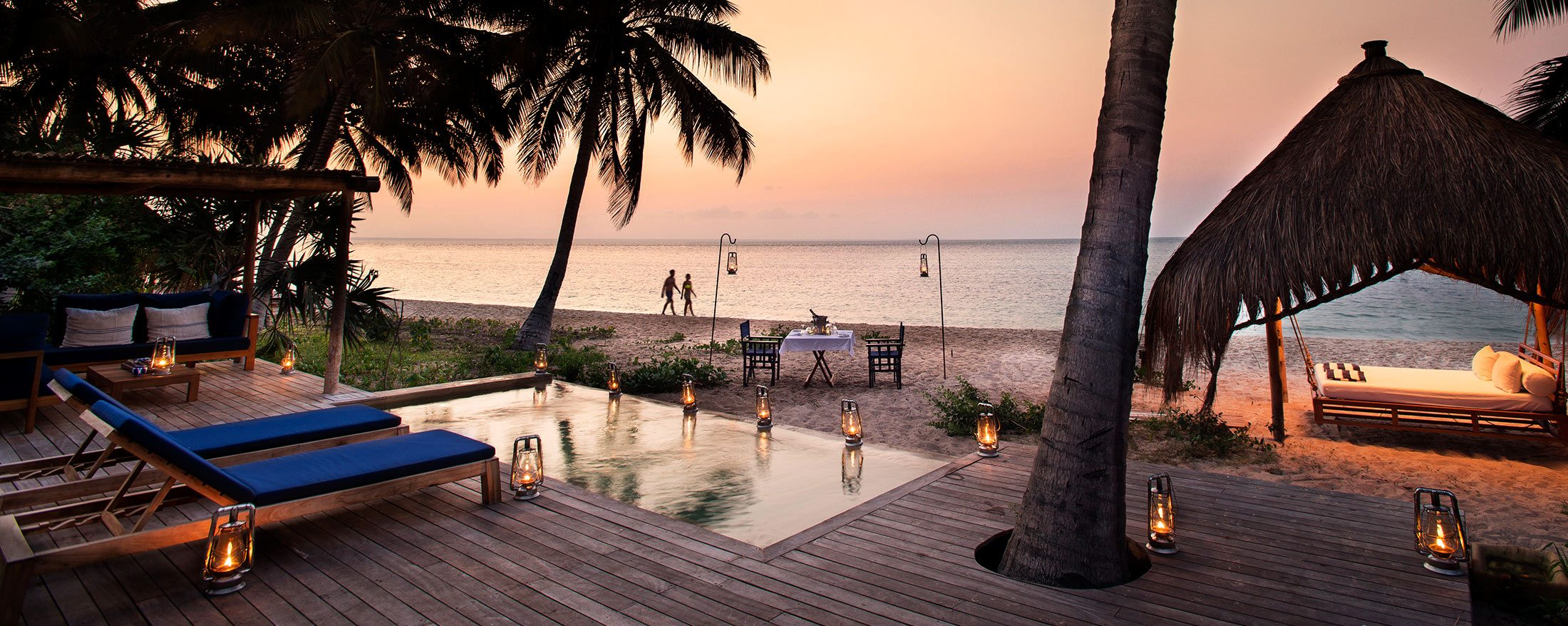 Benguerra Island Lodge's rooms come with private plunge pools.