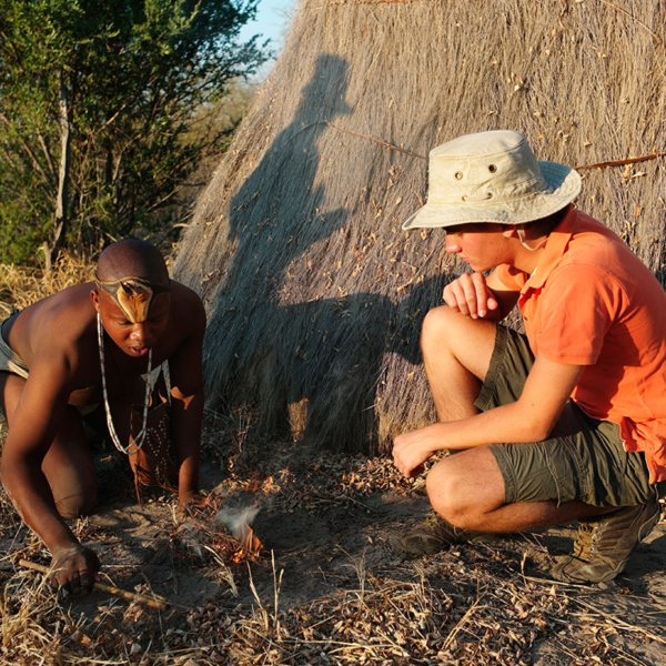 You can learn many tricks from the San people near Kalahari Plains Camp. © Wilderness Safaris