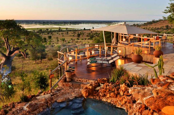 Ngoma Safari Lodge is set on several levels across the hillside. © Africa Albida Tourism