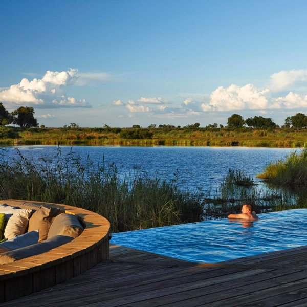 Kings Pool has a swimming pool overlooking the lagoon. © Wilderness Safaris