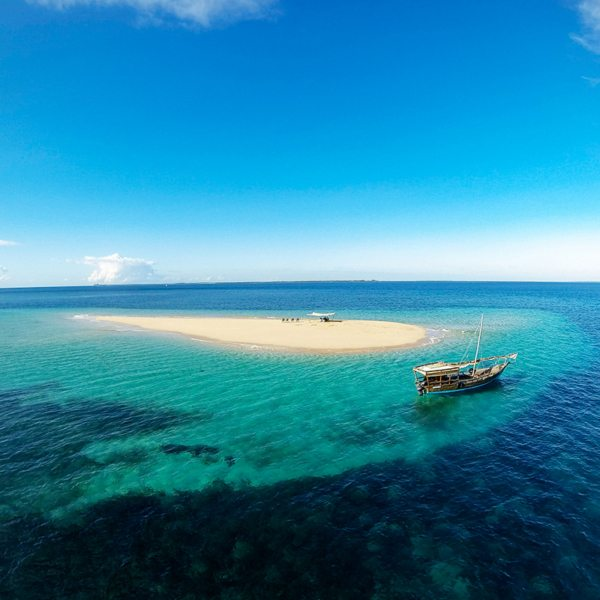 Visit remote sandbars when island hopping in the Quirimbas. © Ibo Island Lodge