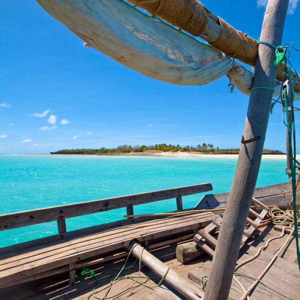 Mogundula Island is one of the many places to visit when island hopping in the Quirimbas. © Ibo Island Lodge