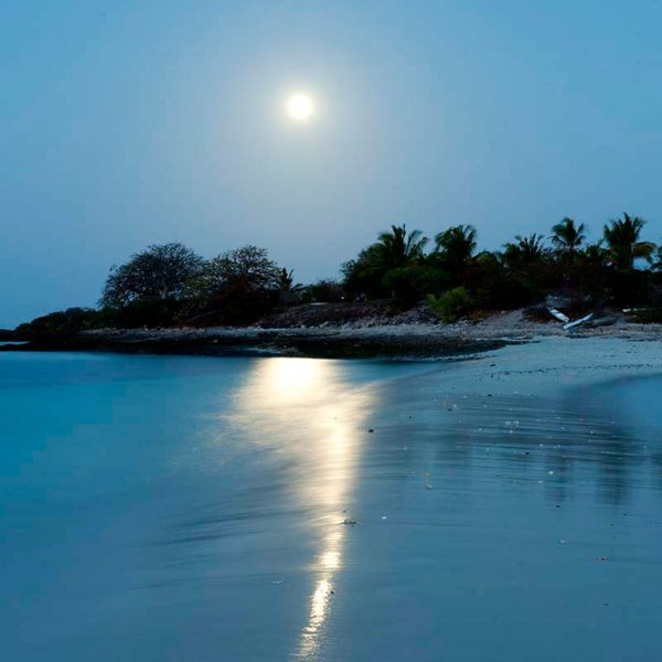 When island hopping in the Quirimbas you can sleep under the moonlight. © Ibo Island Lodge