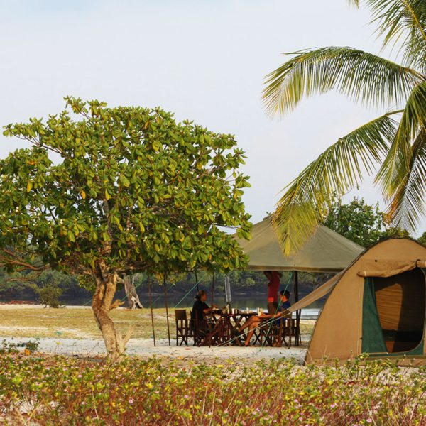 Comfortable tents will be set up for you when you go island hopping in the Quirimbas. © Ibo Island Lodge