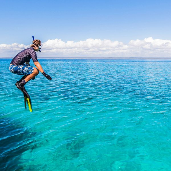 Snorkelling daily is one of the perks of island hopping in the Quirimbas. © Ibo Island Lodge