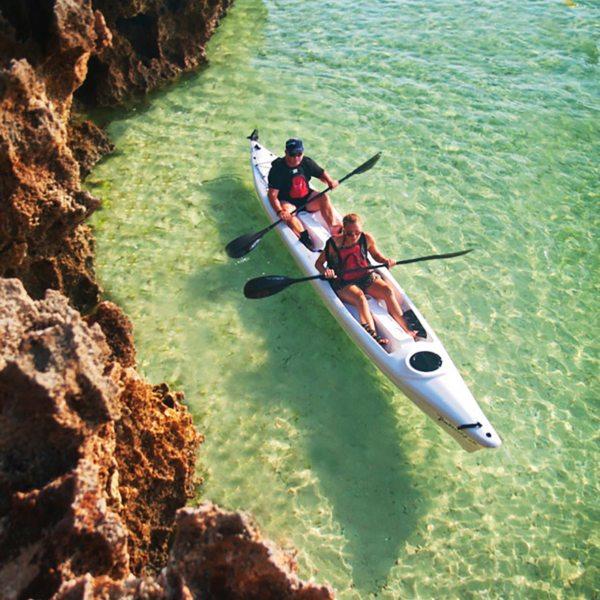 Kayaking is a wonderful way to explore the surrounding waters of Ibo Island Lodge. © Ibo Island Lodge