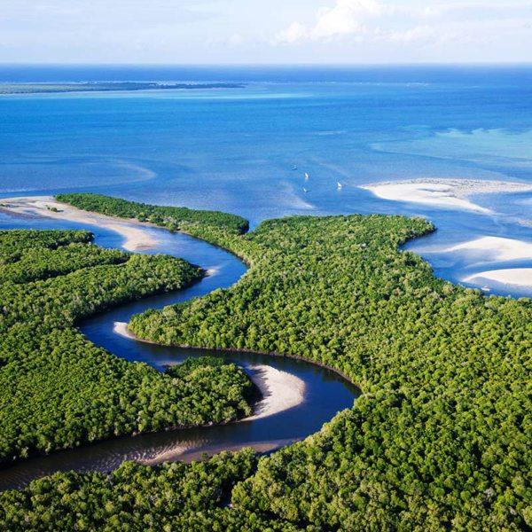 The mangrove canals near Ibo Island Lodge invite exploration. © Ibo Island Lodge